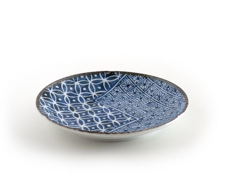 Teller »Shonzui« blau