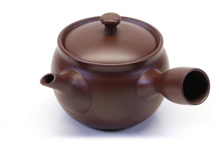 Japanische Teekanne Daruma braun, Bankoyaki