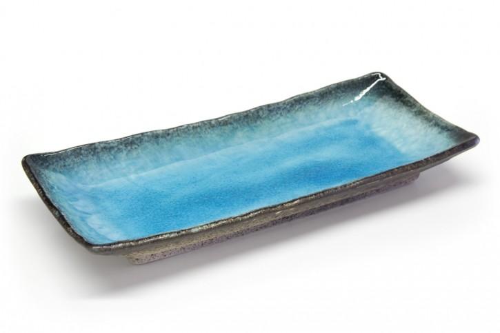 Japanischer Teller schmal hellblau