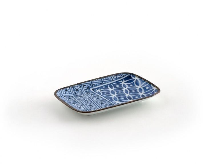 Teller »Shonzui« blau, rechteckig