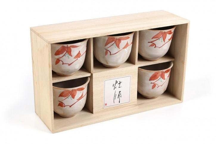 Teetassen-Set Benihana im Holzkasten