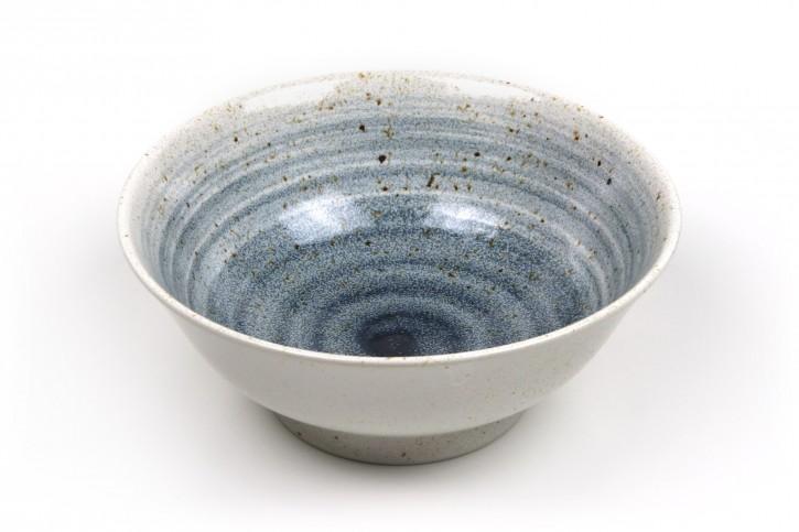 Ramen-Schale blau weiß