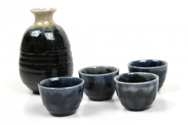Sake Set dunkelblau