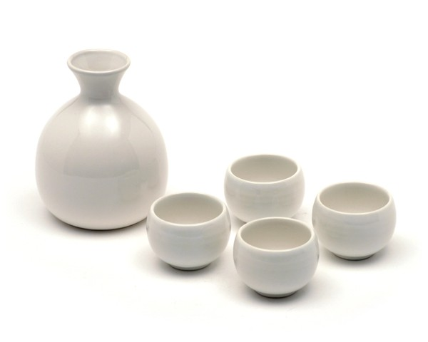 Sake Set weiß