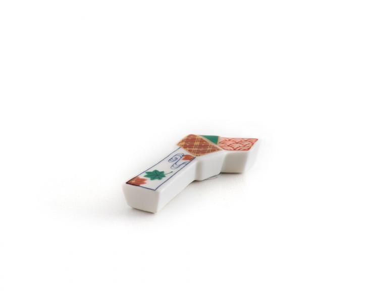 Essstäbchenbank rot grün