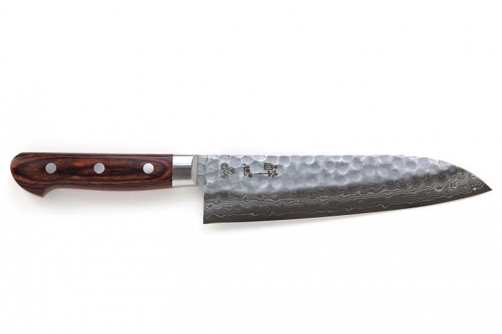Santoku Damastmesser »Suisin« 180 mm