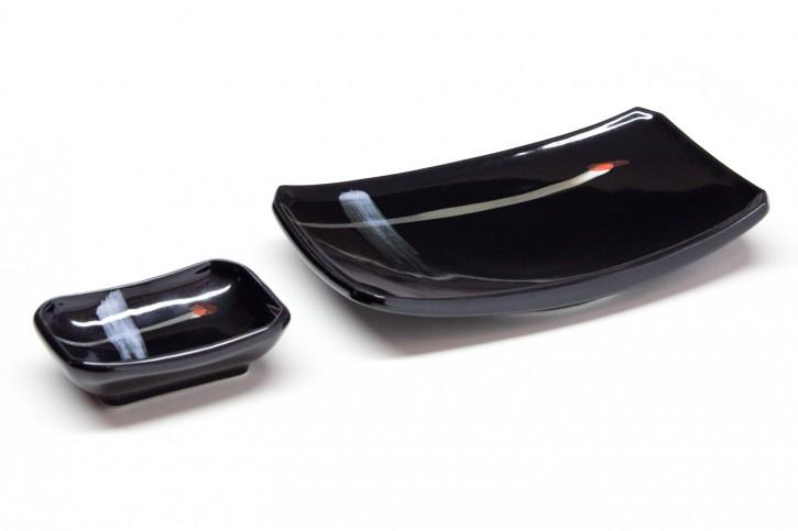 Sushi-Teller-Set schwarz