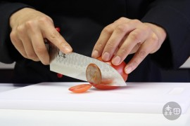 Santoku Damastmesser Suisin 180 mm