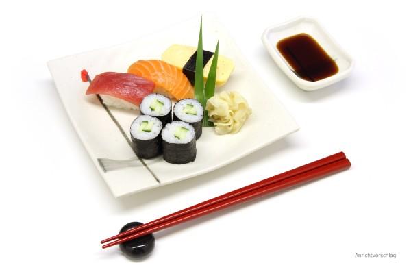 Sushi-Teller-Set weiß