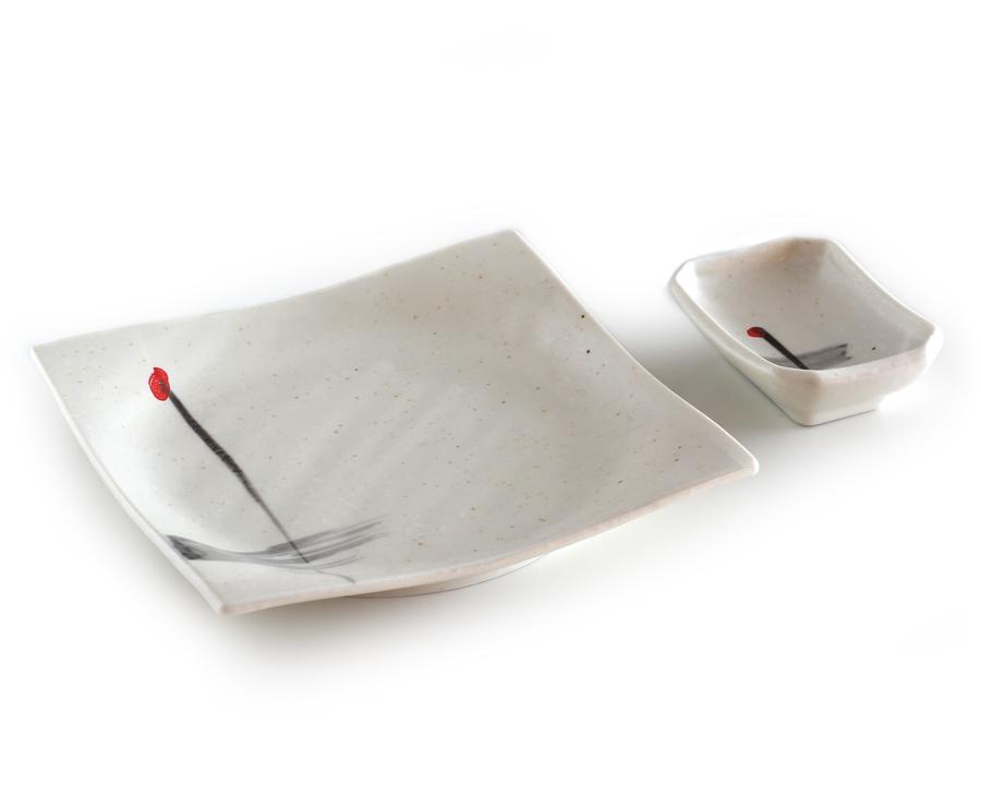 sushi teller set kyoto wei. Black Bedroom Furniture Sets. Home Design Ideas