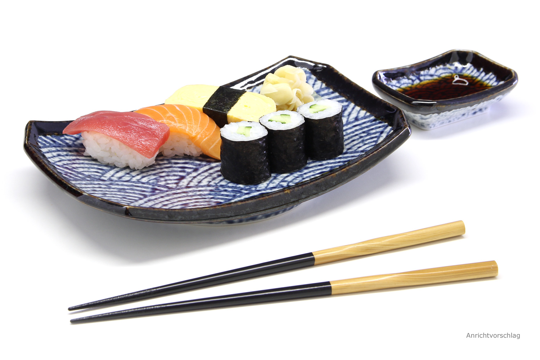 Sushi Telle Set Wellenmotiv Morita