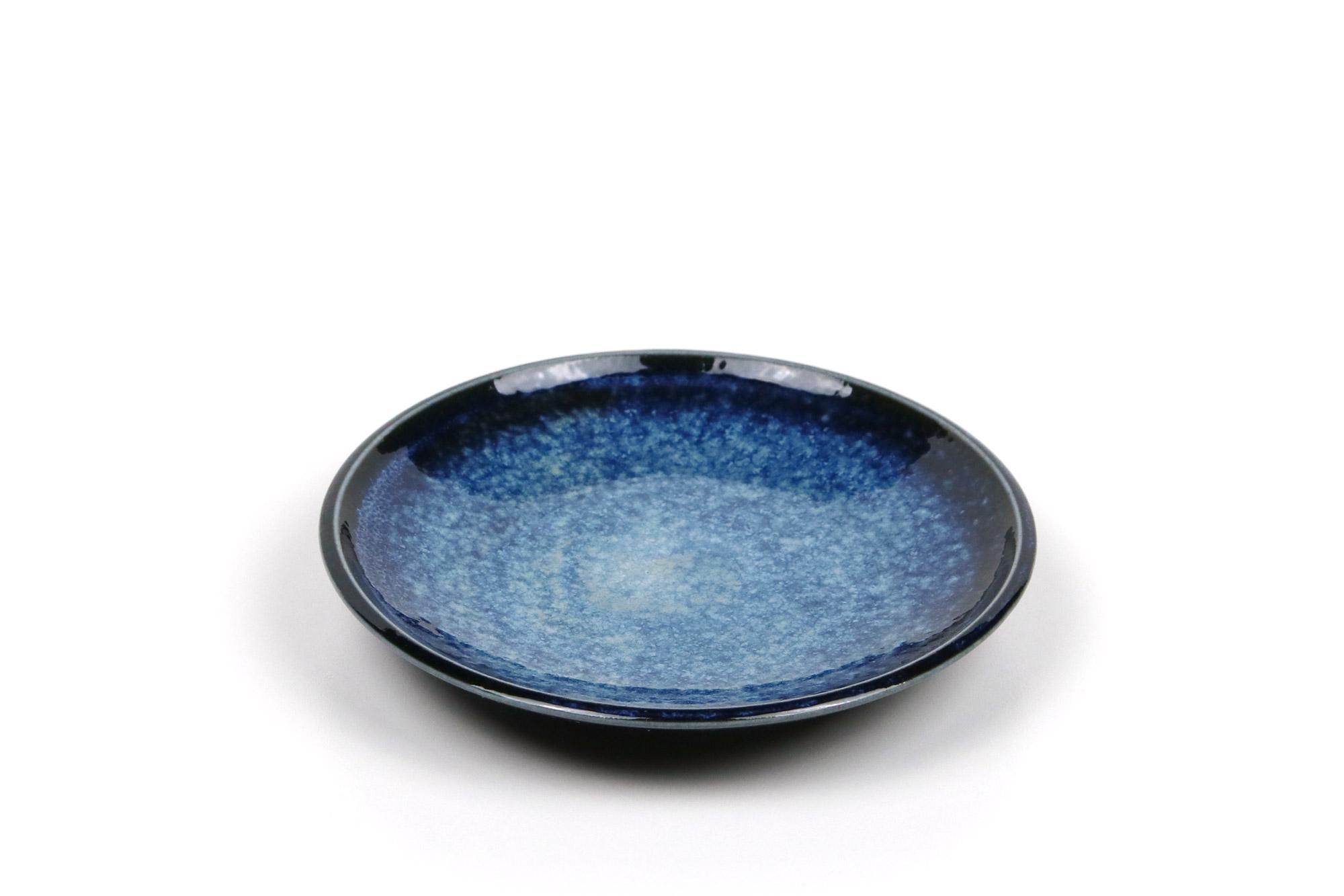 Kleiner Teller Mit Blauer Glasur