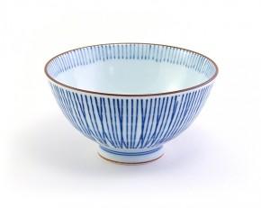 Reisschale blaue Streifen