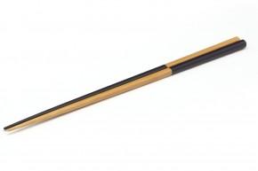 Essstäbchen aus Bambus, schwarz