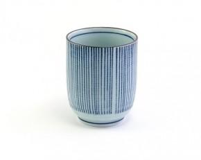 Teebecher weiß-blau