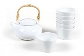 Japanische Teekanne shiro weiß