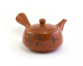 japanische Teekanne rot-braun