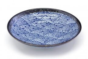 Japanischer Teller Wellenmotiv rund
