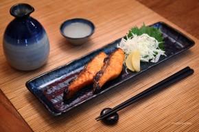 Japanischer Teller schmal schwarz dunkelblau