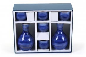 Sake Set blau