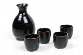 Sake Set schwarz braun
