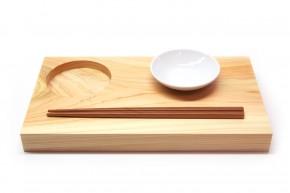 Sushi-Brett Maru aus Hinoki-Holz