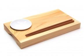 Sushi-Brett R aus Hinoki-Holz