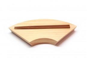 Sushi-Brett Fächer aus Hinoki-Holz