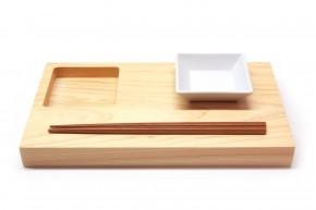 Sushi-Brett Zen aus Hinoki-Holz